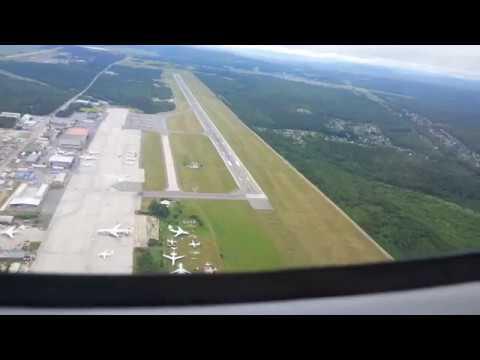Взлёт Л-410 из аэропорта Черемшанка (Красноярск)