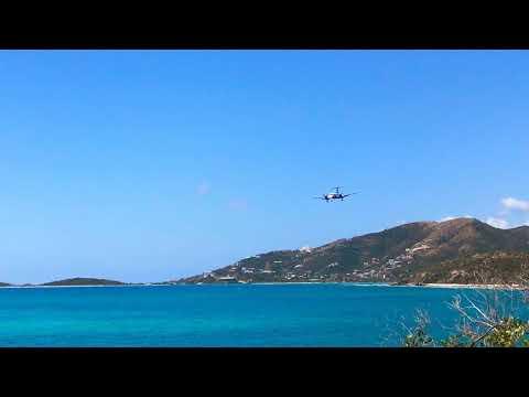EMB120//Inter-Caribbean approaching Beef Island