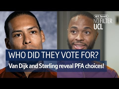 Virgil Van Dijk and Raheem Sterling reveal their votes for Player of the Year