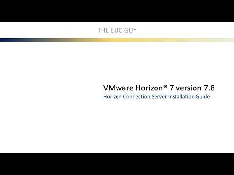 Horizon 7 version 7.8 Connection Server Installation