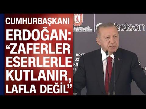 Cumhurbaşkanı Recep Tayyip Erdoğan, Roketsan'da açılış töreninde konuştu