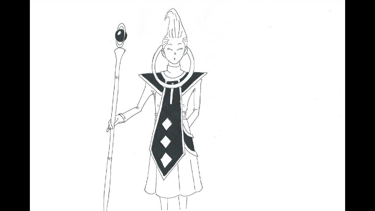 Como dibujar a Wiss (Dragon ball Z: La batalla de los dioses ...
