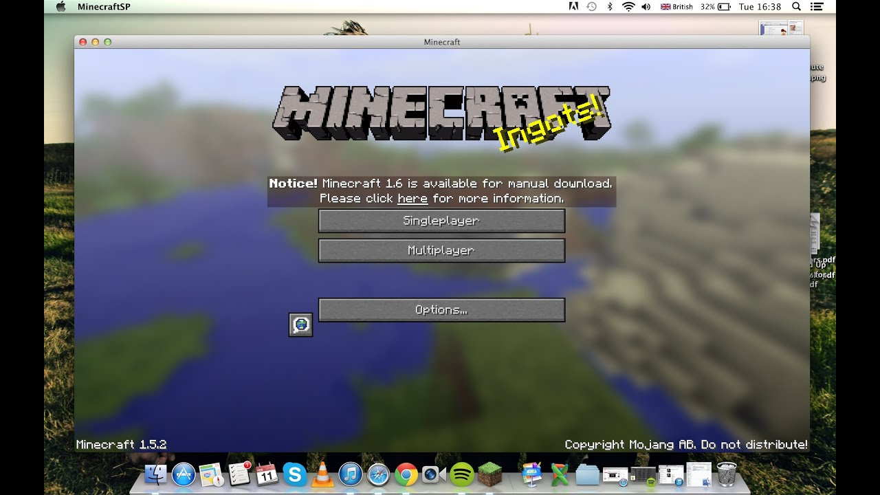 How to get Minecraft for Free! (1 7 4) Full version (auto-updater) (mac)  2014 February