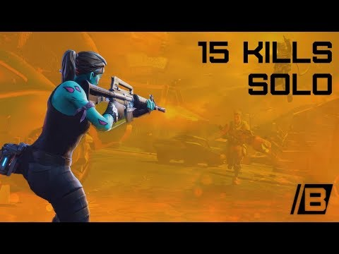 Fortnite: Solo Victory royal with 15 kills - Solo gameplay