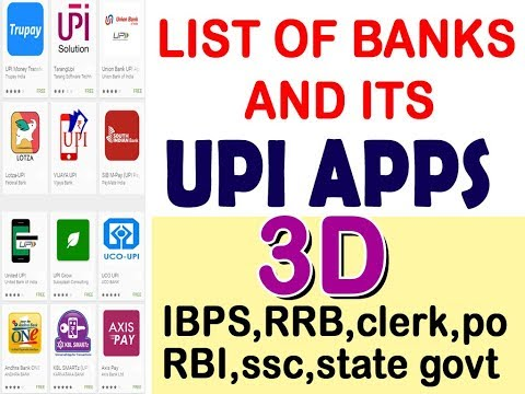 UPI APPS 3D VISUAL TRICKS  II BANKING GK II IBPS PO SO MAINS II