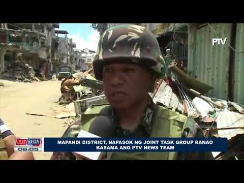 Mapandi District, napasok ng Joint Task Group Ranao kasama ang PTV News Team