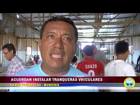 ACUERDAN INSTALAR TRANQUERAS VEHICULARES EN VÍA YURIMAGUAS MUNICHIS