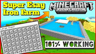 iron farm for Minecraft Pocket Edition  how to Make iron Farm in Minecraft  Iron Farm Tutorial