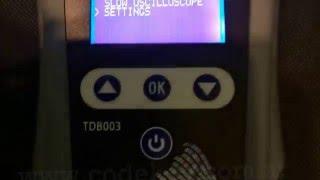 Función de Osciloscopio (Ola de Ondas) (Modo rápido y Lento) TDB003