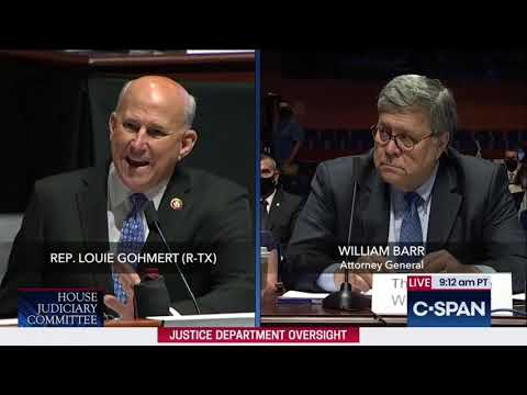 Download Gohmert Questions AG Barr in House Judiciary Oversight Hearing