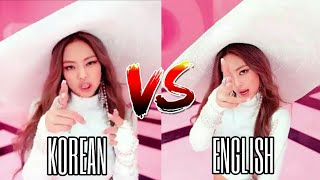 Lisa and Jennie Korean VS English Rap