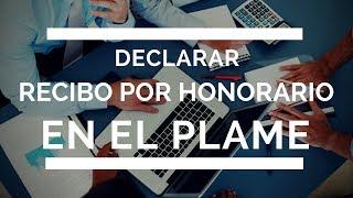 Declarar Recibos Por Honorarios en el PDT PLAME