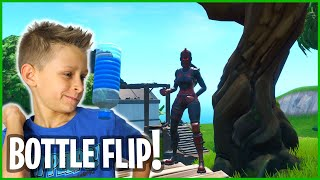 BOTTLE FLIPPING IN FORTNITE!