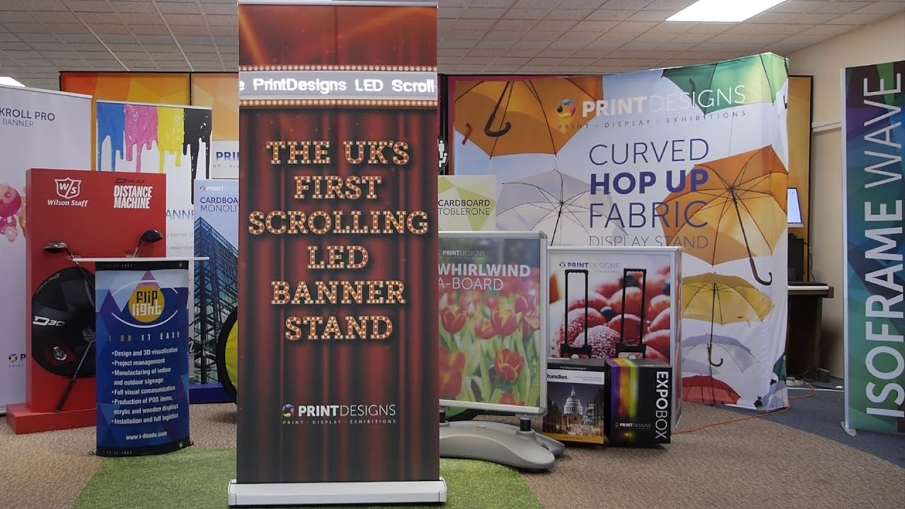 Pop Up Display Stands | Banner Stands | Exhibition Stands