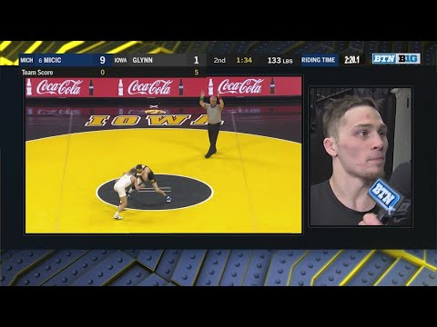 Big Ten Wrestling: 133 LBs - Michigan's Stevan Micic vs. Iowa's Paul Glynn