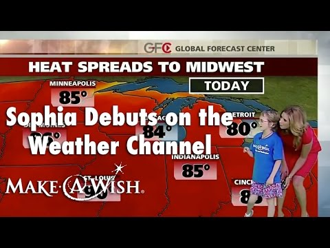Meteorologist in the making visits The Weather Channel | I wish to