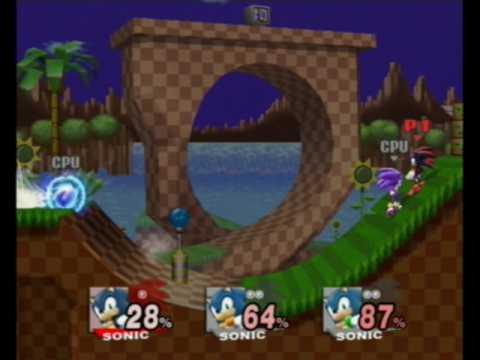 SSBB Shadow vs Metal Sonic vs Darkspine Sonic Chaos ...