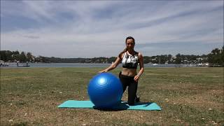 10 Minute Fitball Workout - Core & Legs ⏐ Beginner-Intermediate Fitball Tips & Routine