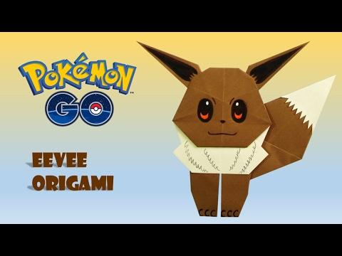 POKEMON GO - Origami EEVEE Tutorial DIY origami how to make origami easy facil