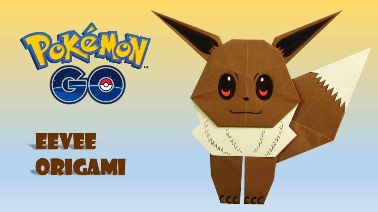 pokemon go origami eevee tutorial diy origami how to