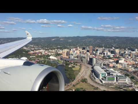 Qatar Airways A350 Approach Into Adelaide