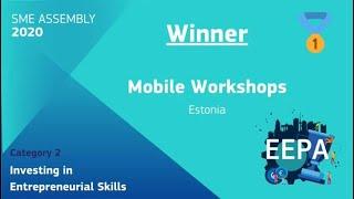 Winner EEPA 2020 Investing in Entrepreneurial Skills  Mobile Workshops, Estonia