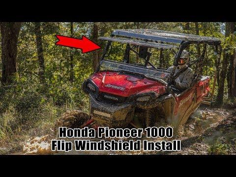 How To Install Flip Windshield | Honda Pioneer 1000 | SuperATV
