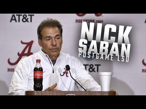 Hear what Nick Saban had to say following Alabama's 24-10 win over LSU