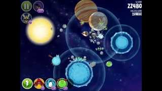 Angry Birds Space - Solar System. Level 10-8 Europa. 3 stars