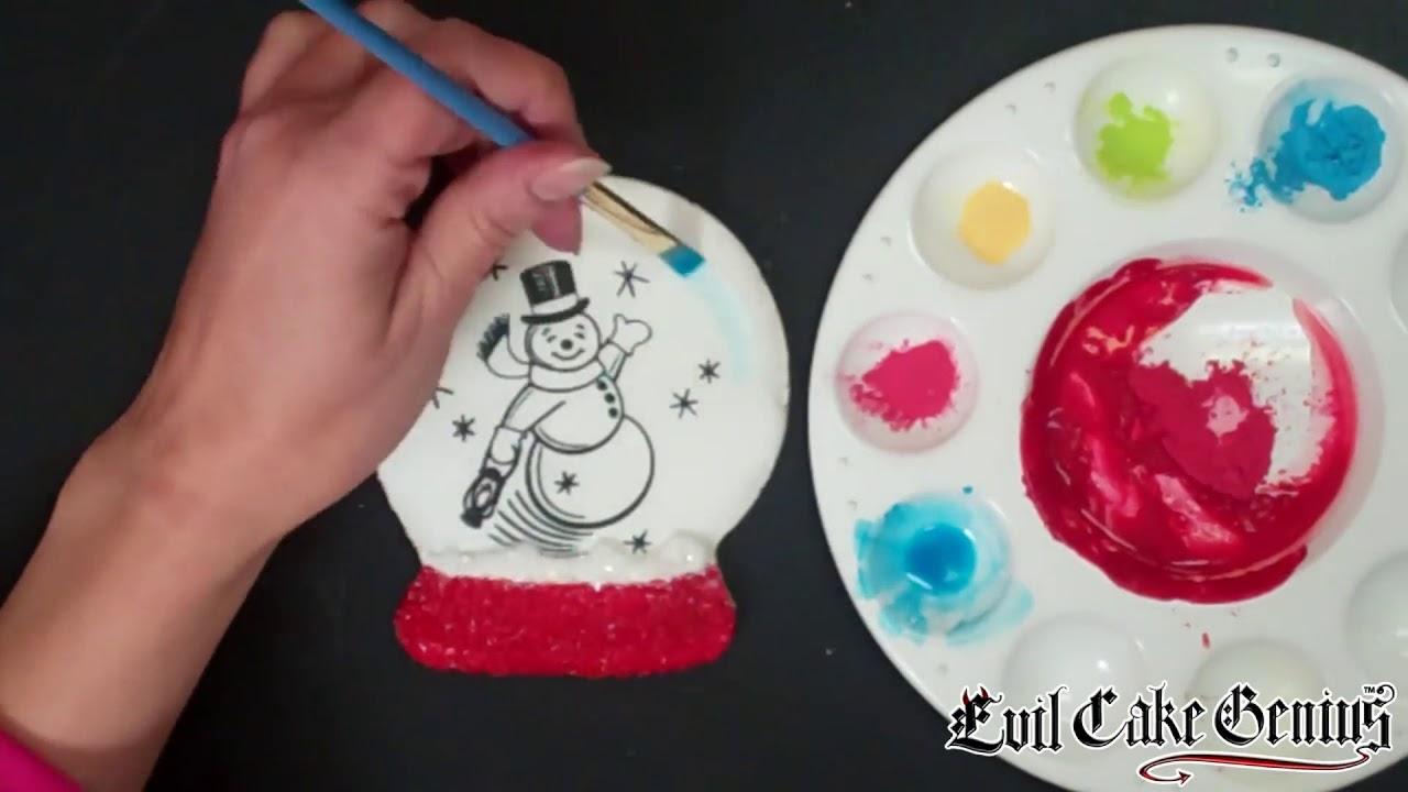 Snowglobe Snowman Christmas Cookie Stencil Set