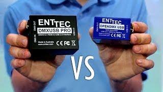 Enttec DMX USB Pro vs Enttec Open