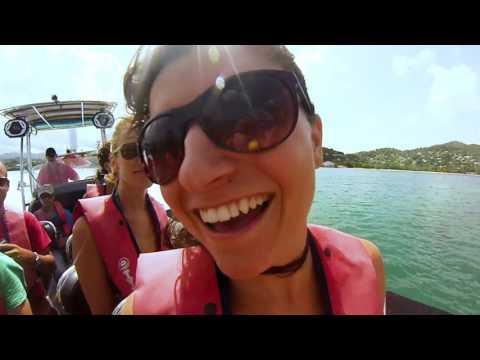 Powerboat Along Grenada's Coastline with Island Routes