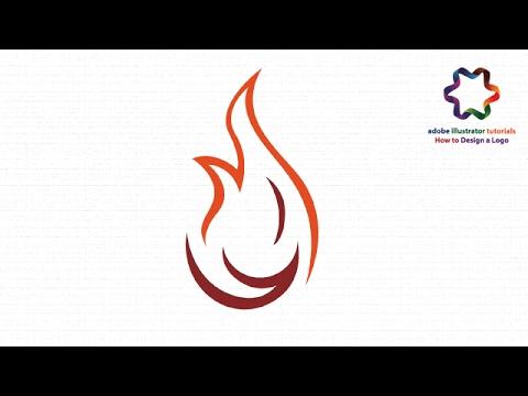 flame logo design tutorial - create flame fire icon design in adobe illustrator cc for beginners