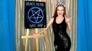 Satanic Pentagram Black Metal 666 - Art of Sofia Metal Queen