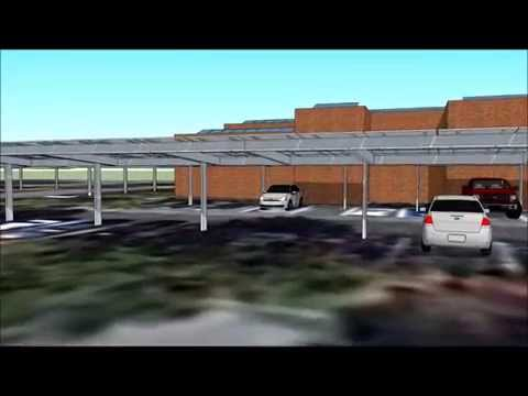 Solar Power Car Ports Concept in Florida