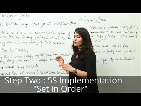 Lean Six Sigma l 5S l Step 2 Set in Order l Seiton l 5S Course