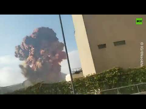 Beirut explosion | The moment of the blast [LOUD!]