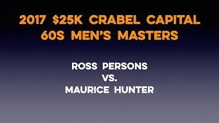 Tennis Singles Strategy - 2017 Crabel Masters - Maurice Hunter vs. Ross Persons