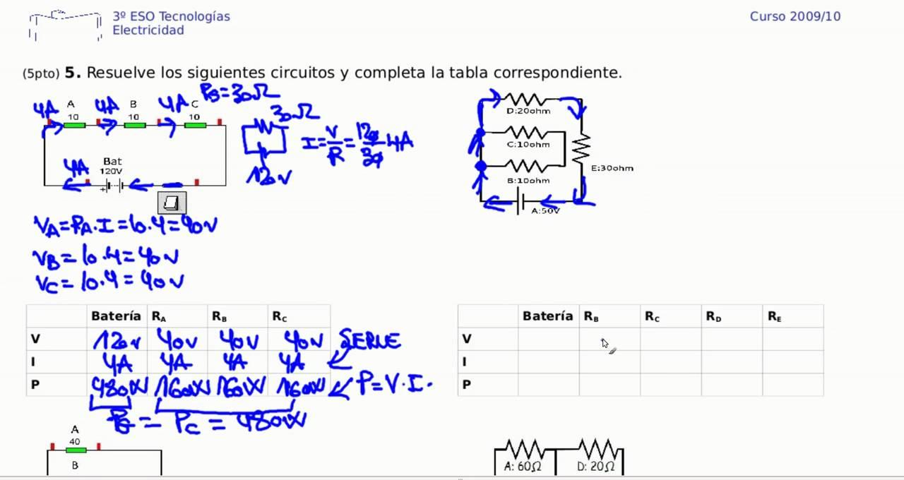 Circuito En Serie : Electricidad ejercicio resuelto circuito serie resistencias