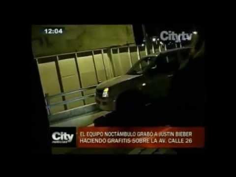 Citytv.com.co: Justin Bieber pinta graffiti en Bogotá