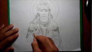 Speed Drawing - Lord Hanuman