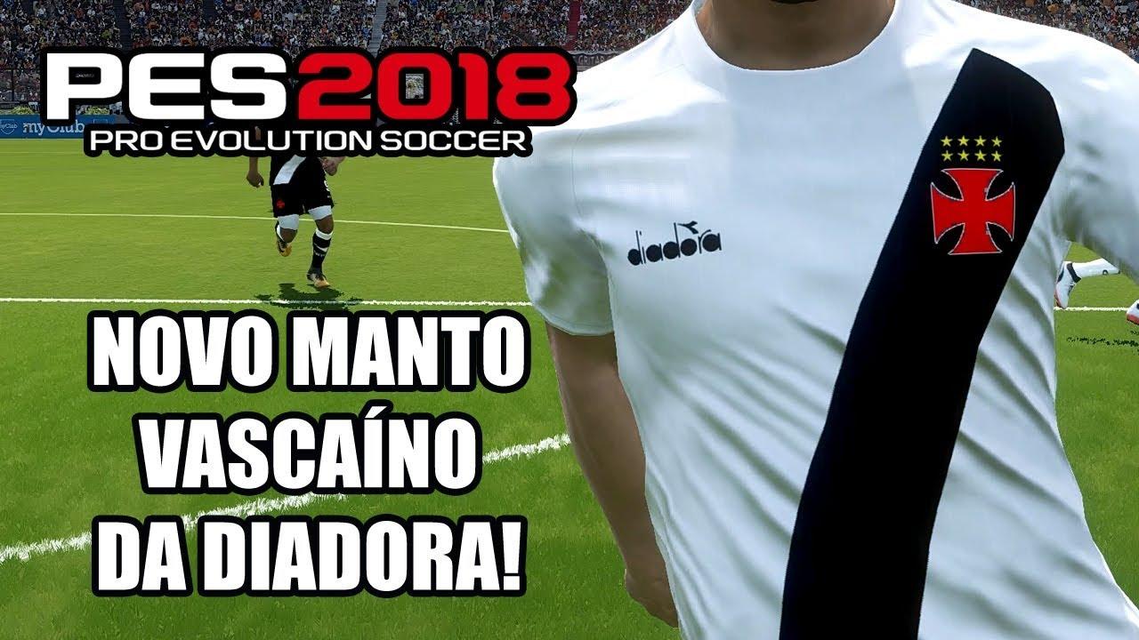 PES 2018  camisa provisória do Vasco da Diadora!  download para PS4 e PC  0f6df1a8b96f0