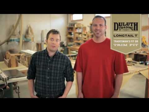 Duluth Trading Longtail T® - Tradesman Fit vs. Trim Fit