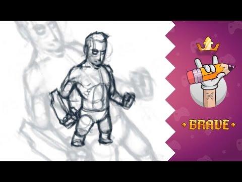 Рисуем супергероя #1 || Создание персонажа для игры