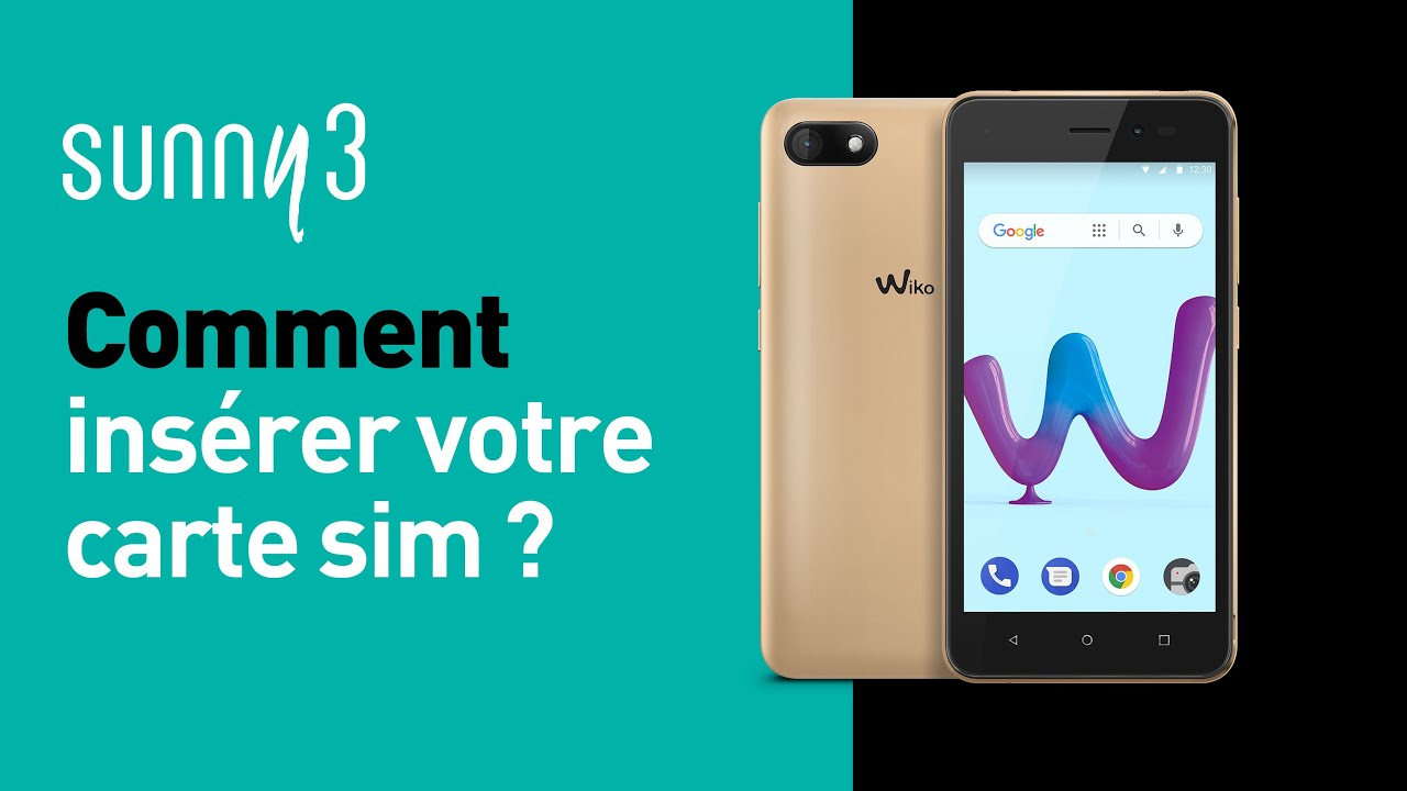 comment inserer carte sim dans wiko Wiko   Sunny3   Comment insérer votre carte SIM   YouTube