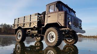 ШИШИГА на радиоуправлении морозным утром... RC truck GAZ-66