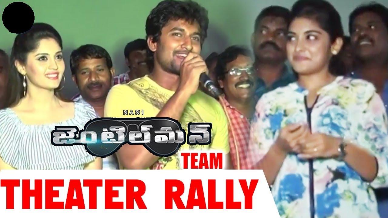 Download Gentlemen Movie Team Theaters Rally    Nani, Nivetha Thomas, Surabhi