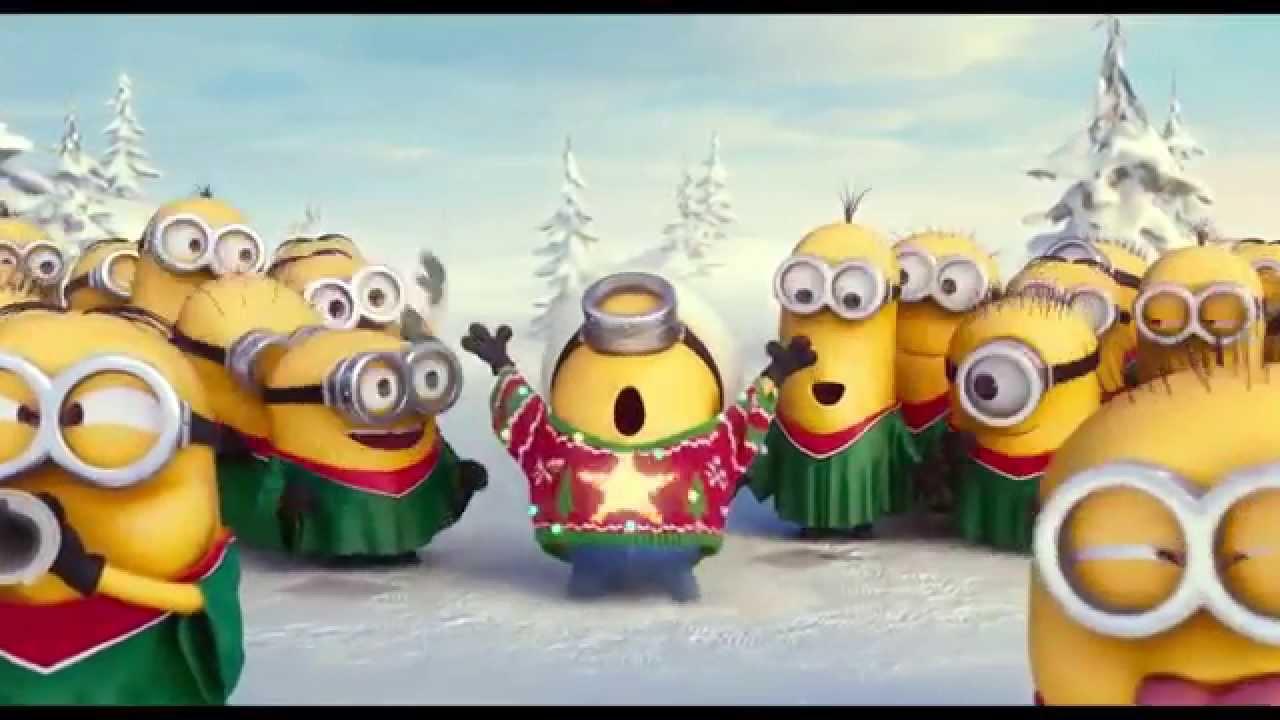 minions cantando villancicos navidad