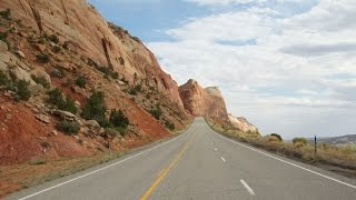 riding Utah 191 along Canyonlands and Arches National Park on a Harley motorcycle