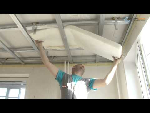 видео: Звукоизоляция потолка. Монтаж звукоизолирующего подвесного потолка
